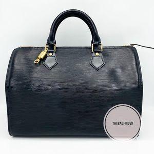 Louis Vuitton Speedy 30 Epi Black